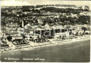 1958 GROTTAMMARE (AP) Panorama aereo con spiaggia e colline *FG VG