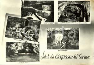 1955 ACQUASANTA TERME (AP) Vedutine con grotte e stabilimento bagni * FG VG