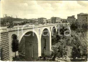 1960 ASCOLI PICENO Il ponte di porta MAGGIORE * Cartolina ANIMATA FG VG