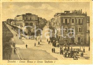 1942 BRINDISI Corso ROMA e corso UMBERTO I calzature CARAVAGLIO *ANIMATA FG VG