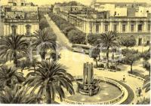 1962 BRINDISI Veduta aerea piazza CAIROLI verso corso UMBERTO I *ANIMATA FG VG