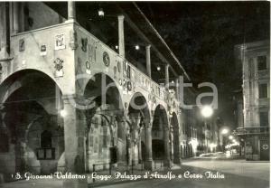 1952 SAN GIOVANNI VALDARNO (AR) Logge PALAZZO D'ARNOLFO *Cartolina  FG VG