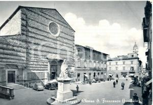 1958 AREZZO Chiesa di S. Francesco *Cartolina animata FG VG