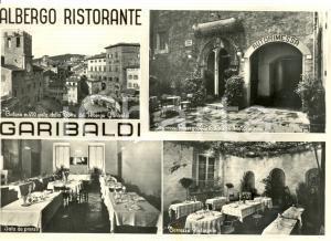 1960 ca CORTONA (AR) Vedutine ALBERGO GARIBALDI *Cartolina postale FG NV