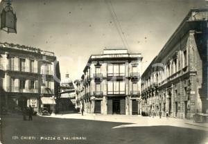 1950 CHIETI Veduta piazza VALIGNANI - AUTO D'EPOCA *Cartolina animata FG VG