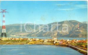 1958 MESSINA (ME) Lago del Faro e piloni elettrodotto *Cartolina DANNEGGIATA