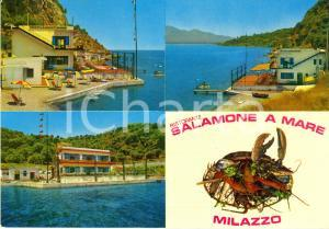 1970 ca MILAZZO (ME) Ristorante SALAMONE a mare *Cartolina VINTAGE FG NV