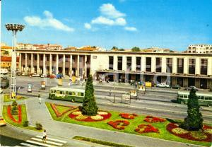 1976 PADOVA Veduta esterna della stazione ferroviaria *Cartolina FG VG VINTAGE