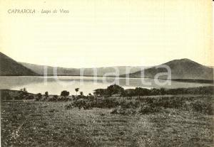1950 ca CAPRAROLA (VT) Veduta panoramica del LAGO DI VICO *Cartolina FG NV