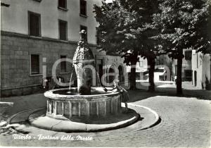 1960 ca VITERBO Fontana della MORTE e FIAT BALILLA * Cartolina FG NV VINTAGE