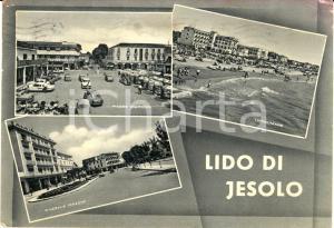 1959 LIDO DI JESOLO (VE) Vedutine di centro e spiaggia *Cartolina FG VG VINTAGE