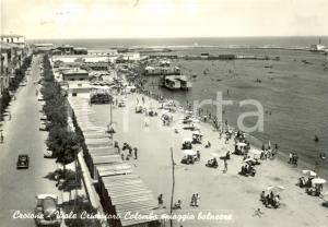 1958 CROTONE Spiaggia balneare in Viale Cristoforo Colombo *Cartolina FG VG