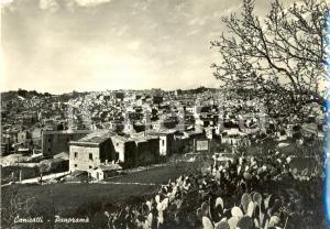 1953 CANICATTI' (AG) Scorcio panoramico del paese *Cartolina postale FG VG