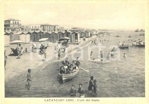 1940 ca CATANZARO L'ora del bagno al Lido *Cartolina postale animata FG NV