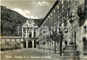1956 PAOLA (CS) Veduta della BASILICA di SAN FRANCESCO *Cartolina FG VG