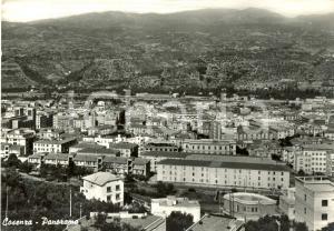 1959 COSENZA Panorama della città *Cartolina postale FG VG
