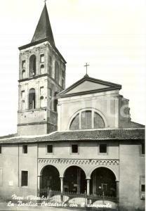 1950 ca NEPI (VT) La Basilica Cattedrale con il campanile *Cartolina postale FG
