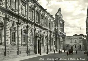 1956 LECCE Palazzo del Governo e CHIESA SANTA CROCE *Cartolina postale FG VG
