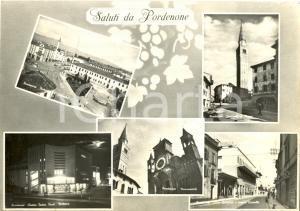 1954 PORDENONE Vedutine del Campanile di SAN MARCO e CINEMA TEATRO VERDI *FG VG