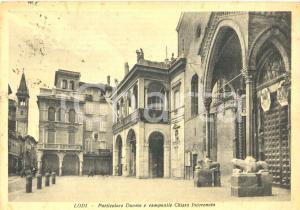 1947 LODI Particolare del DUOMO e campanile CHIESA INCORONATA *Cartolina FG VG