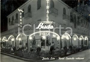 1950 ca JESOLO (VE) Hotel Centrale con insegne CAFFÈ' BREDA e APEROL *FG NV