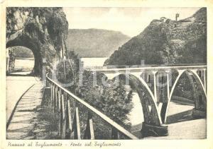 1949 PINZANO AL TAGLIAMENTO (PN) Ponte sul fiume tra SAN DANIELE e UDINE *FG VG