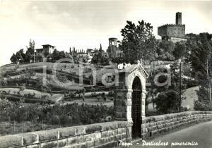 1957 POPPI (AR) Panorama con CASTELLO dei CONTI GUIDI *Cartolina postale FG VG