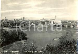 1955 LODI Vista della Città dal fiume ADDA *Cartolina postale FG VG