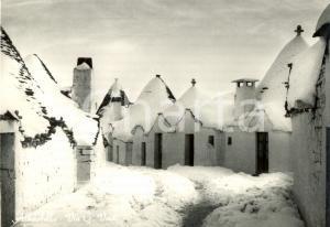 1950 ca ALBEROBELLO (BA) Trulli innevati in Via GIUSEPPE VERDI *FG NV