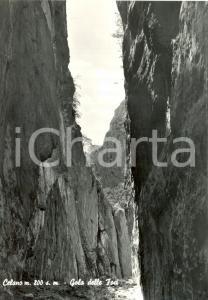 1964 CELANO (AQ) Veduta della GOLA DELLE FOCI *Cartolina postale FG VG