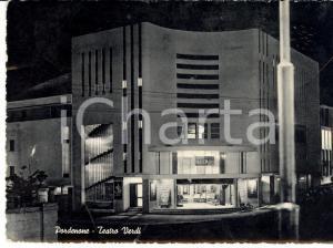 1955 PORDENONE Facciata del Teatro VERDI *Cartolina DANNEGGIATA FG VG