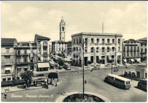 1950 ca PESCARA Piazzale STAZIONE CENTRALE con autocorriera *Cartolina FG NV