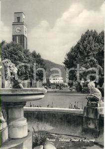 1950 ca MASSA (MS) Veduta del PALAZZO POSTE E TELEGRAFI *Cartolina ANIMATA FG NV