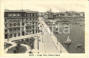 1930 ca BARI Lungomare NAZARIO SAURO e KURSAAL SANTA LUCIA *Animata con barche