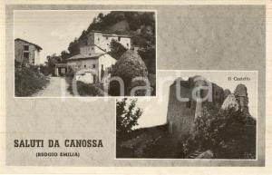 1930 ca CANOSSA (RE) Vedutine delle rovine del castello *Cartolina postale FP NV