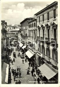 1960 ca CATANZARO Veduta di corso MAZZINI *Cartolina ANIMATA FG VG