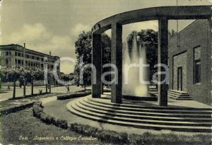 1950 ca LODI Veduta acquedotto e Collegio CAZZULANI *Cartolina ANIMATA FG NV