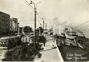 1959 LIDO di VENEZIA Piazzale SANTA MARIA ELISABETTA con filobus e barche *FG VG