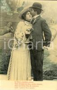 1907 INNAMORATI Le baiser supreme caresse *Cartolina VINTAGE FP VG