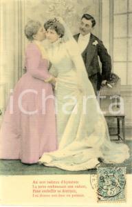 1907 AMOUR Soir d'hyménée - La mère embrasse son enfant *VINTAGE postcard