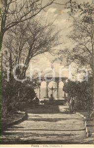1920 ca PAOLA (CS) Scorcio del giardino di Villa UMBERTO I *Cartolina ANIMATA NV