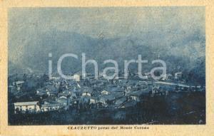1921 CLAUZETTO (PN) Veduta del paese dal monte CORONA *Cartolina FP VG