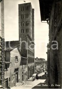 1950 AREZZO Corso ITALIA con chiesa di SANTA MARIA DELLA PIEVE *Animata FG VG