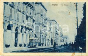 1926 CAGLIARI Veduta di via ROMA *Cartolina postale ANIMATA con tram FP VG