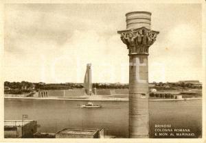 1950 ca BRINDISI Colonna romana e monumento al Marinaio d'ITALIA *ANIMATA