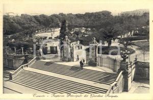 1934 TARANTO Ingresso ai Giardini PERIPATO *Cartolina postale ANIMATA FP VG