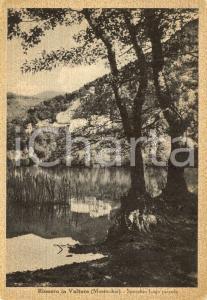 1940 ca RIONERO IN VULTURE (PZ) Veduta lago piccolo a MONTICCHIO *DANNEGGIATA