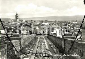 1960 ca MELFI (PZ) Panorama della città vista dal castello *Cartolina FG NV