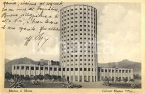 1934 MARINA DI MASSA Veduta della Colonia Marina FIAT *Cartolina FP VG
