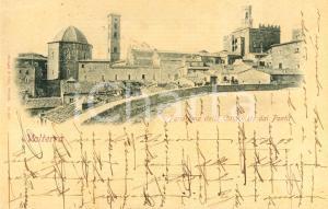 1899 VOLTERRA (PI) Panorama della città visto dai ponti *Cartolina postale FP VG